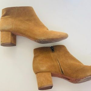 Madewell Suede Lucien Boot in Bronzed Birch size 9